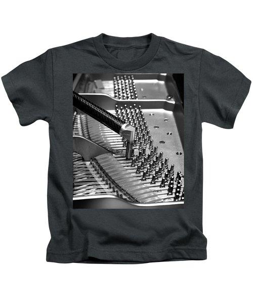 Piano Tuning Bw Kids T-Shirt