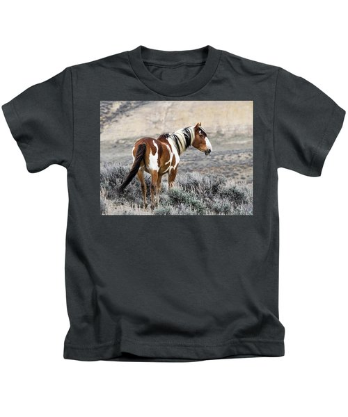 Picasso - Wild Mustang Stallion Of Sand Wash Basin Kids T-Shirt