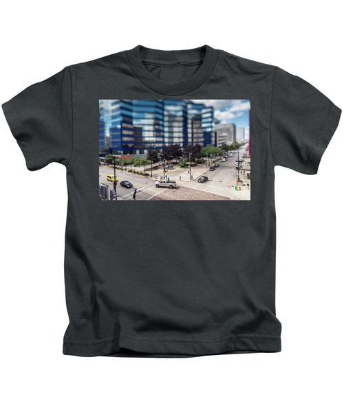 Pick-up Truck In The Itty-bitty-city Kids T-Shirt