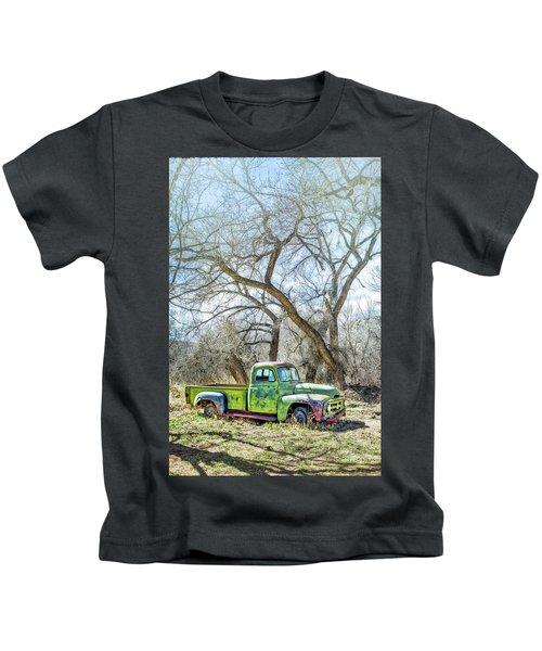Pickup Under A Tree Kids T-Shirt