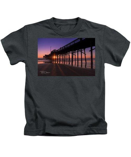 Pier In Purple Kids T-Shirt