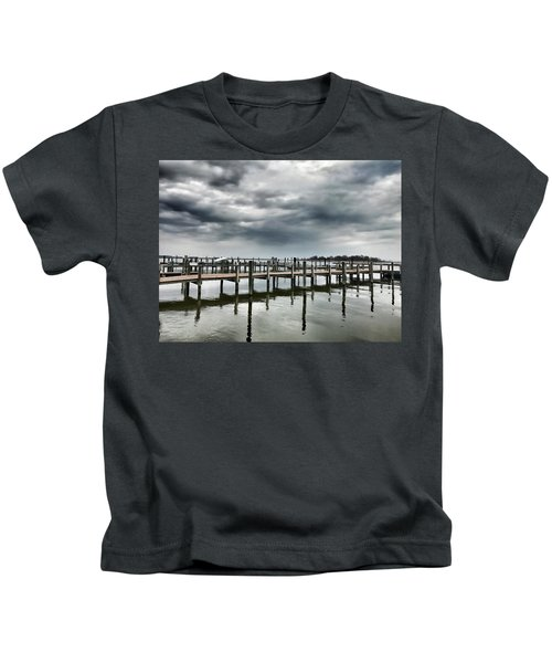 Kids T-Shirt featuring the photograph Pier Pressure by Chris Montcalmo