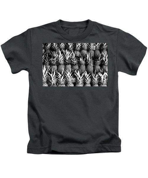 Pineapples In B/w Kids T-Shirt