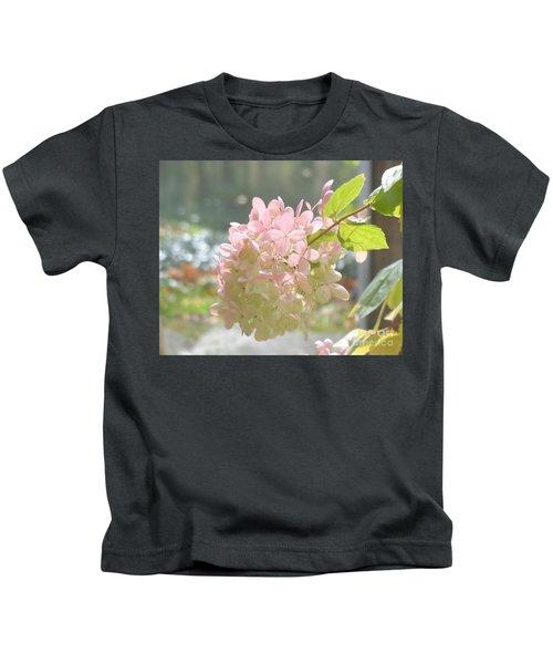 Pink Bloom In Sun Kids T-Shirt