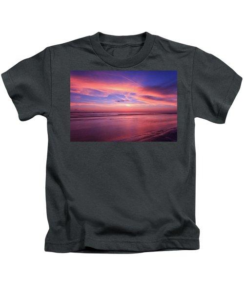 Pink Sky And Ocean Kids T-Shirt