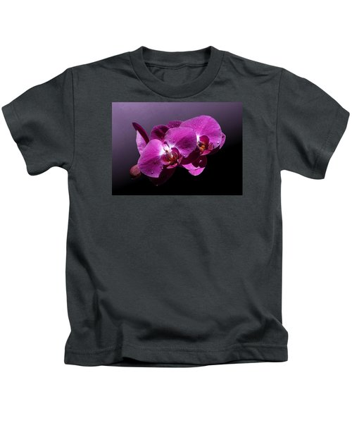 Pink Orchid Flowers Kids T-Shirt