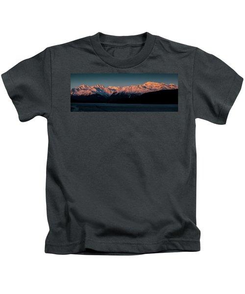 Pink Peaks II Kids T-Shirt