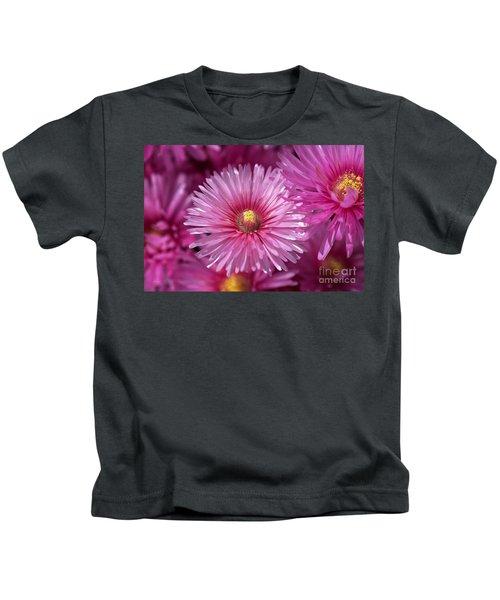Pink Pigface Flowers Kids T-Shirt