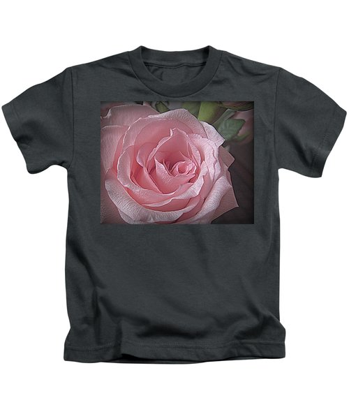 Pink Rose Bliss Kids T-Shirt