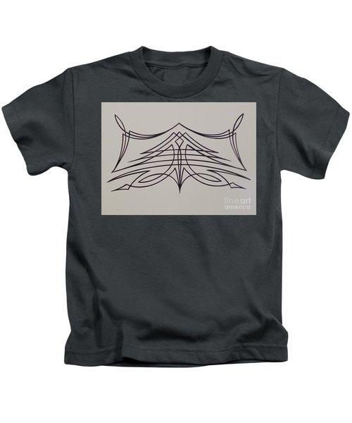 Pinstripe Black On White Kids T-Shirt