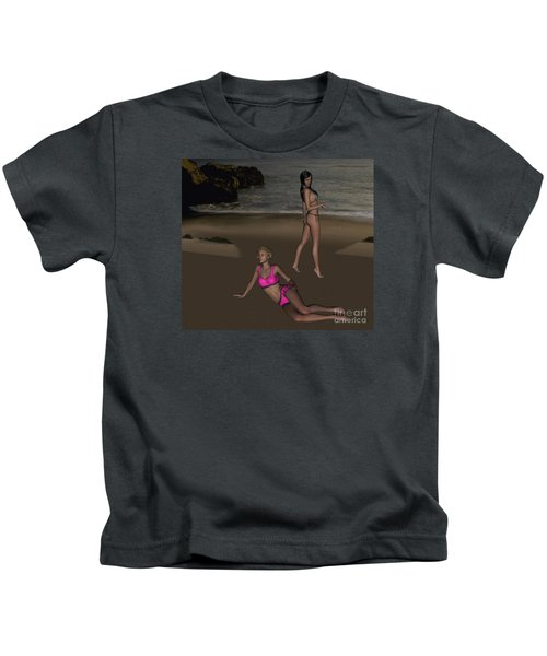 Pinups At Dusk Kids T-Shirt