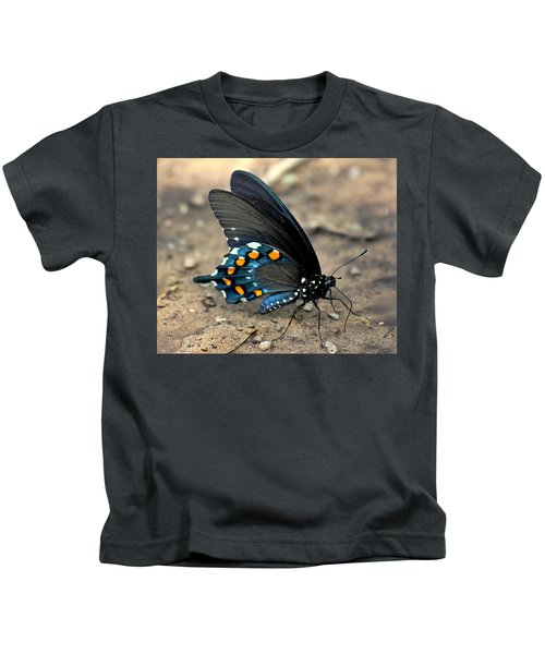 Pipevine Swallowtail Close-up Kids T-Shirt