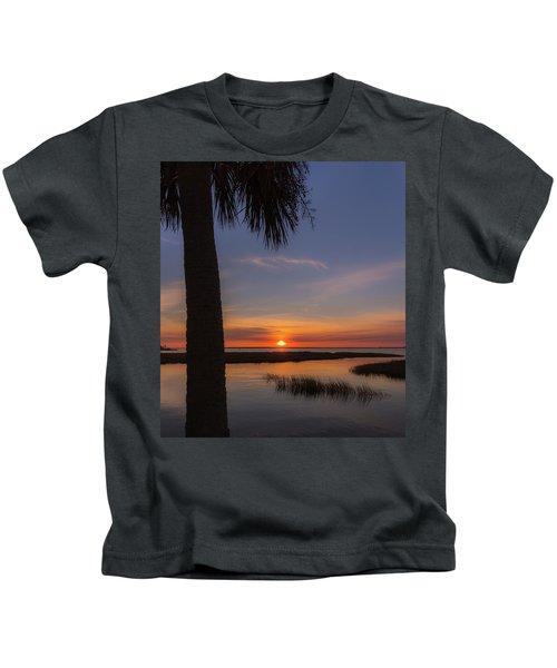 Pitt Street Bridge Palmetto Sunset Kids T-Shirt