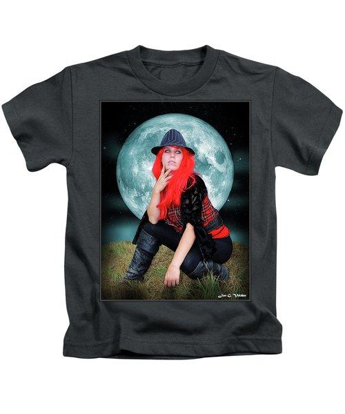 Pixie Under A Blue Moon Kids T-Shirt