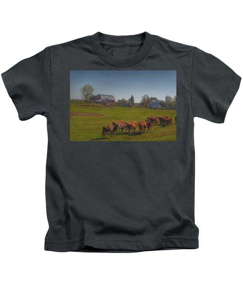 1014 - Plain Road Farm And Cows I Kids T-Shirt