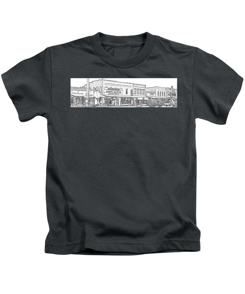 Plains Ga Downtown Kids T-Shirt