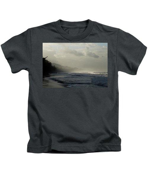 Playa Negra Beach At Sunset In Costa Rica Kids T-Shirt