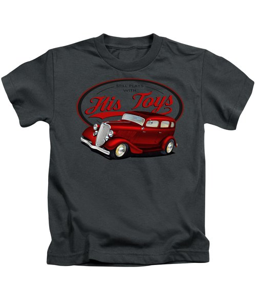 Plays With His Fords Kids T-Shirt