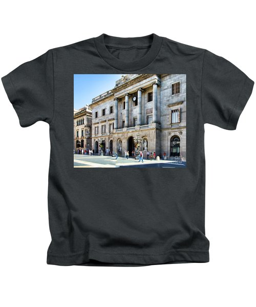 Plaza De Catalunya Barcelona  Kids T-Shirt