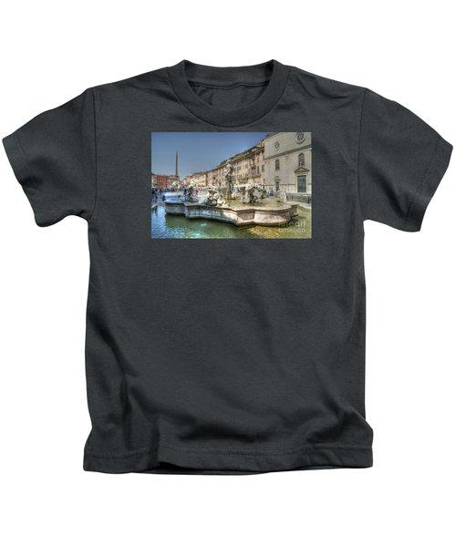 Plaza Navona Rome Kids T-Shirt