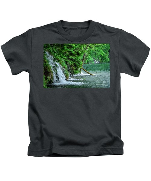 Plitvice Lakes National Park, Croatia - The Intersection Of Upper And Lower Lakes Kids T-Shirt