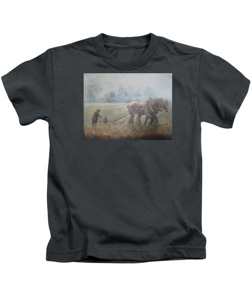Plowing It The Old Way Kids T-Shirt