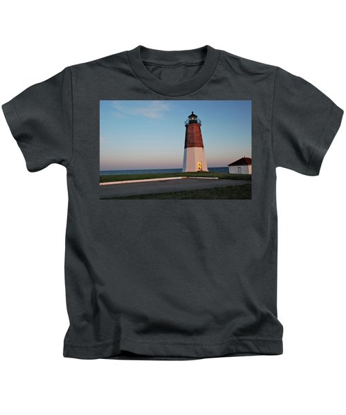 Point Judith Lighthouse Rhode Island Kids T-Shirt