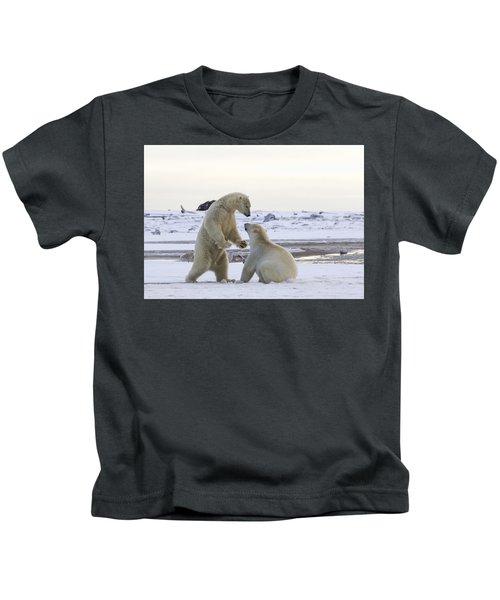 Polar Bear Play-fighting Kids T-Shirt