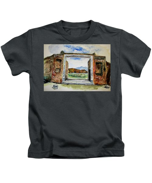 Pompeii Doorway Kids T-Shirt
