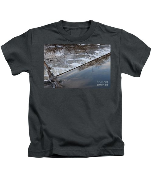 Pompton Spillway From Above Kids T-Shirt