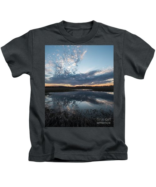 Pond And Sky Reflection3a Kids T-Shirt