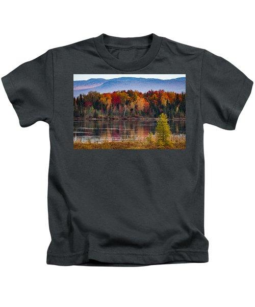 Pondicherry Fall Foliage Reflection Kids T-Shirt