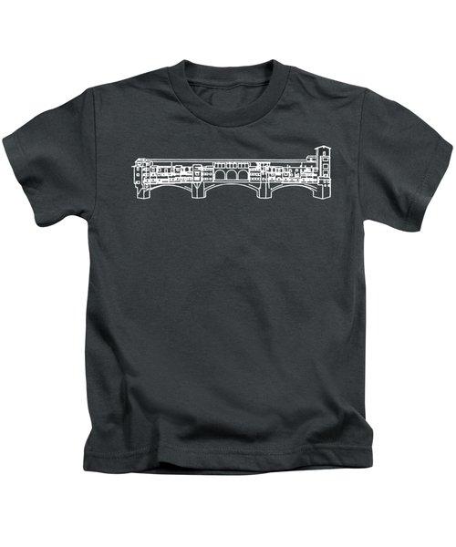 Ponte Vecchio Florence Tee White Kids T-Shirt
