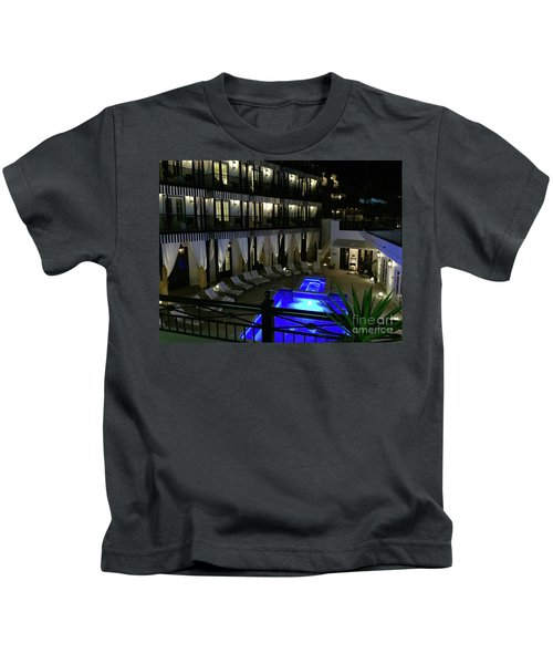 Poolside At The Pearl Kids T-Shirt by Megan Cohen
