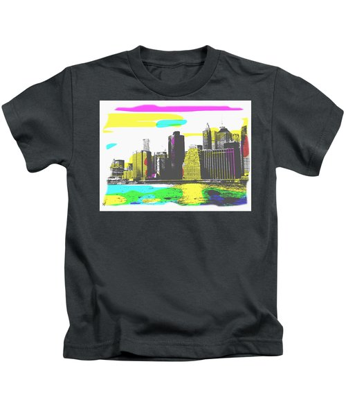 Pop City Skyline Kids T-Shirt