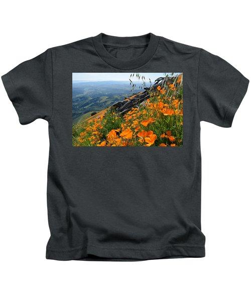 Poppy Mountain  Kids T-Shirt