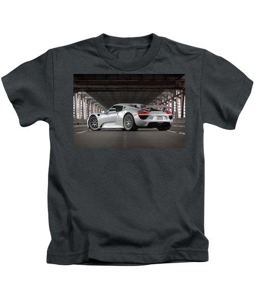 #porsche #918spyder #print Kids T-Shirt