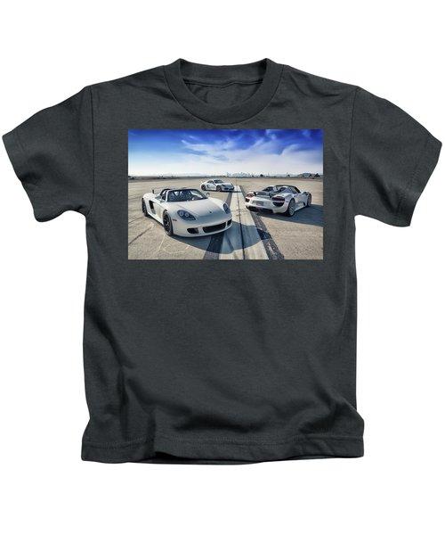 #porsche #carreragt,  #918spyder,  #cayman #gt4 Kids T-Shirt
