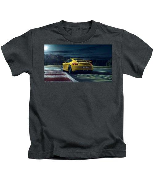 Porsche Cayman Gt4 Kids T-Shirt