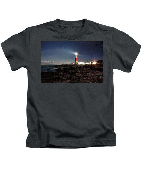 Portland Bill Lighthouse Uk Kids T-Shirt