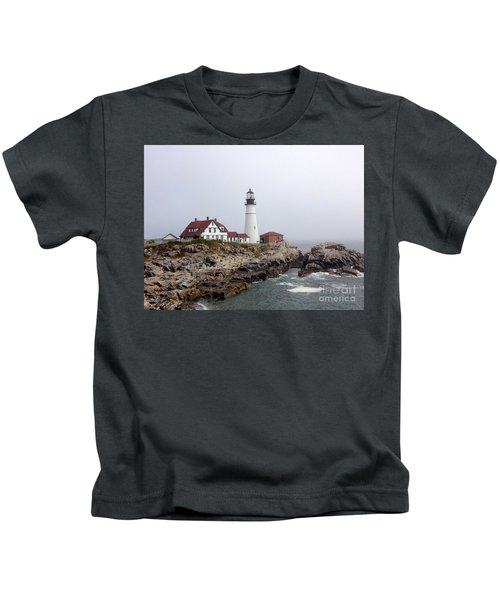 Portland Head Light Kids T-Shirt