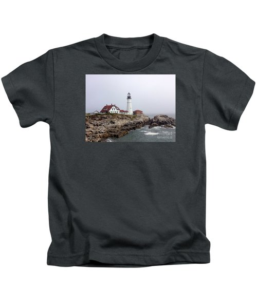 Portland Head Light Kids T-Shirt