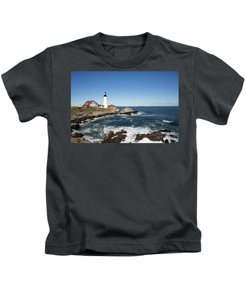Portland Head Lighthouse Maine Kids T-Shirt