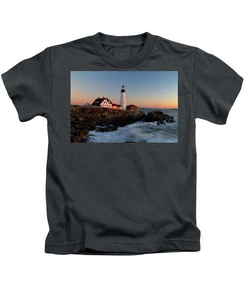 Portland Head Lighthouse Sunrise Kids T-Shirt