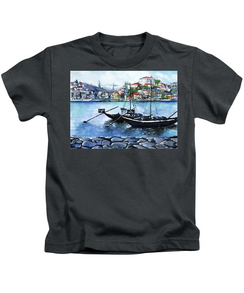 Porto Rabelo Boats Kids T-Shirt