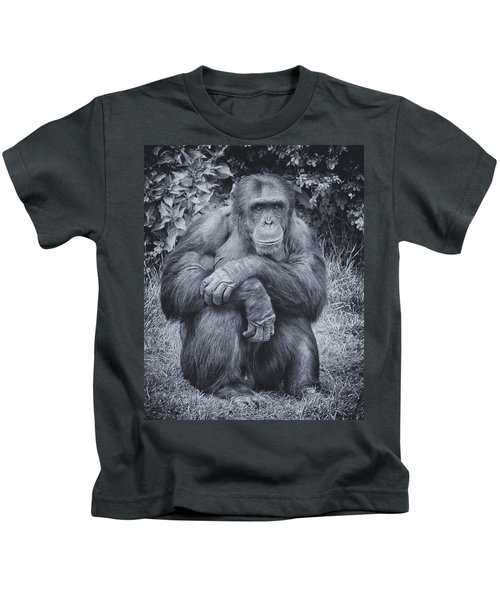 Portrait Of A Chimp Kids T-Shirt