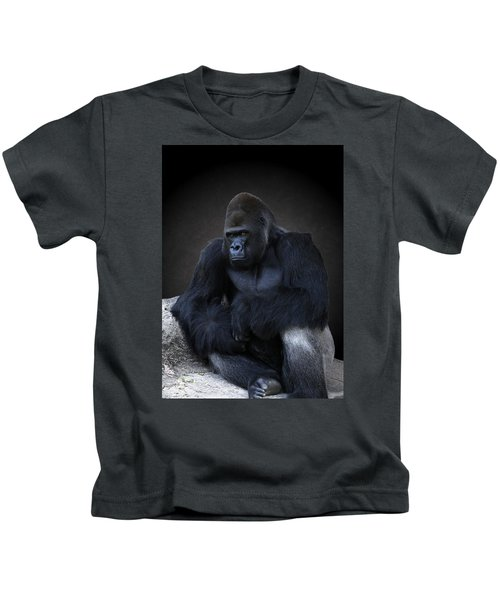Portrait Of A Male Gorilla Kids T-Shirt