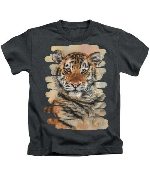 Portrait Of A Tiger Cub Kids T-Shirt