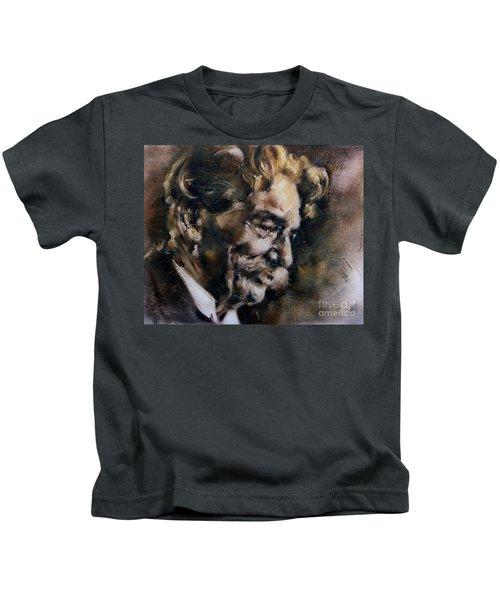 Portrait Of Albert Schweitzer Kids T-Shirt