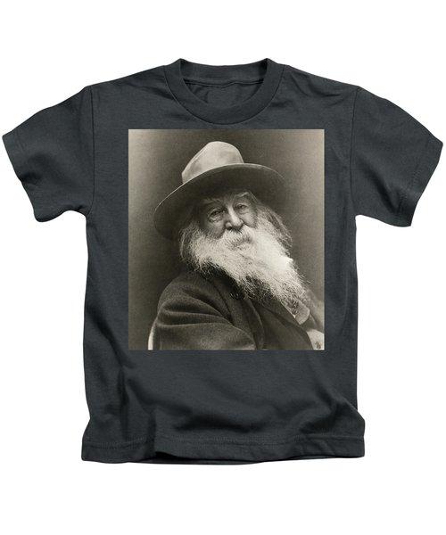 Portrait Of Walt Whitman Kids T-Shirt
